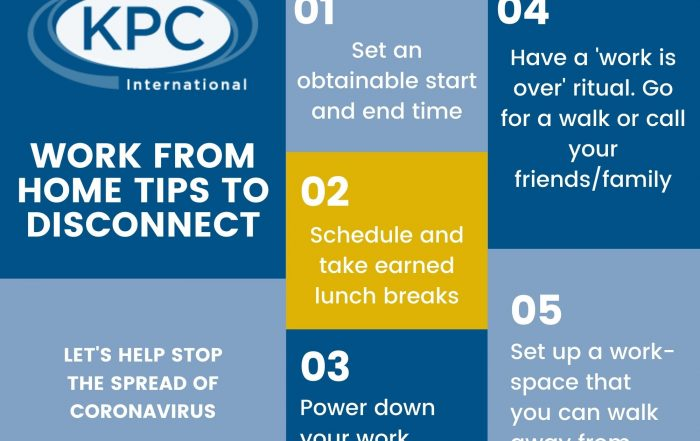 Tips to disconnect Work From Home KPC International